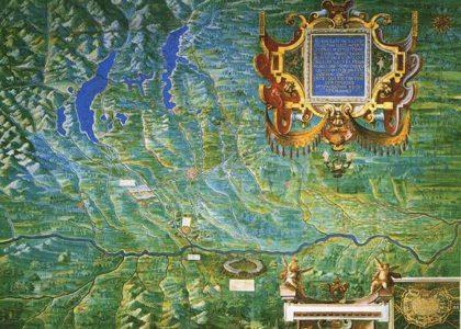 Carta delle acque della Lombardia occidentale, XVI Secolo
