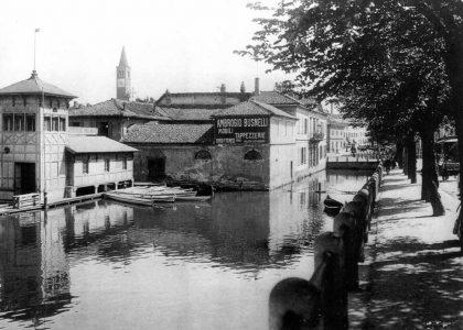 Botteghe e laboratori verso il Ticinello, 1914