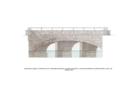 Ponte delle Gabelle della Darsena di Milano, fronte sud-est