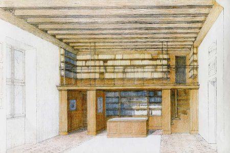 Villa Sagramoso – disegno con A. Bortoluzzi