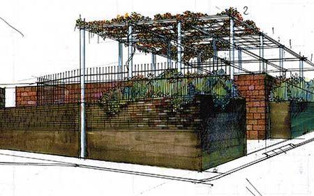 Aree libere a Villasanta - disegno di V. Cazzaniga